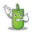 call me price tag mascot cartoon vector image vector image