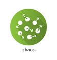 chaos flat design long shadow glyph icon vector image vector image