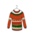 Christmas red sweater vector image