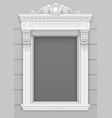 classic white architectural window facade frame vector image vector image