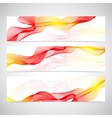 Colorful Horizontal Set Of Banners smoky waves vector image vector image