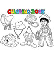 coloring book country collection vector image