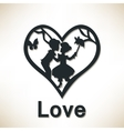 couple in big heart love concept vector image