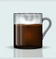 cup of hot coffee on a transparent background vector image vector image