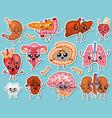 cute organs happy human set smiling vector image vector image