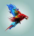 Digital flying ara vector image vector image
