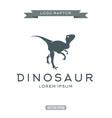 Dinosaur raptor reptile flat plain logo icon vector image