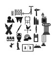 drawing icons set simple style vector image