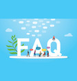 faq frequently asked question concept with team vector image