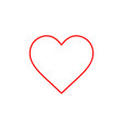 flat line heart icon vector image