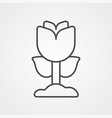 flower icon sign symbol vector image vector image