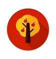 Fruit tree flat icon with long shadow vector image vector image