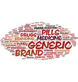 generic word cloud concept vector image vector image