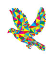 geometric dove flying vector image vector image