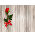 Happy Valentines day Beautiful red rose and gift vector image vector image