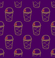ice cream easy pattern linear-01 vector image vector image