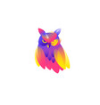icon an owl flat icon a smart owl image is vector image vector image