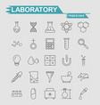 labortory icons set vector image