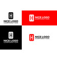 logo letter h vector image vector image