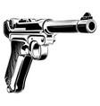 luger p08 parabellum retro pistol vector image vector image