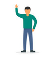 man hand up icon flat style vector image