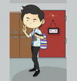 man lifestyle vector image vector image