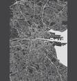 monochrome detailed plan city of dublin vector image
