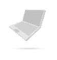 Notebook computer isolated on white backgrounds vector image vector image