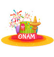 Onam holiday sale banner with ribbon vector image vector image