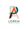 pa modern logo design with orange and green color vector image vector image