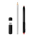pen flash pencil vector image
