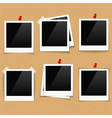 Photo Frames on Bulletin Board vector image