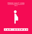 pregnant woman icon graphic elements for your vector image vector image