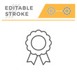 quality badge editable stroke line icon vector image