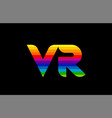 rainbow color colored colorful alphabet letter vr vector image vector image