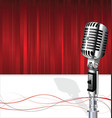 retro vintage microphone karaoke party background vector image vector image