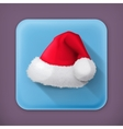 Santa Claus hat flat icon vector image vector image