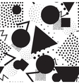 Seamless geometric pattern in retro memphis 80s vector image