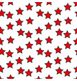 seamless pattern with red stars on white vector image vector image