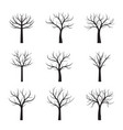 set black neked trees vector image vector image