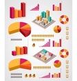 set infographics elements vector image