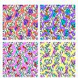 set memphis patterns vector image