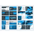 set modern creative business card templates vector image vector image