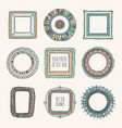 set of hand drawn photoframes vector image vector image