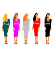 set of women collection dresses vector image