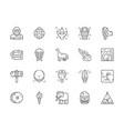 set prehistoric age line icons neanderthal vector image