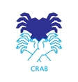 Shadow Hand Puppet Crab vector image vector image