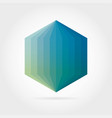 smooth color gradient hexagon icon logo vector image