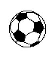 soccer ball pixel art football pixelated isolated vector image