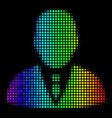 spectral colored pixel manager icon vector image vector image